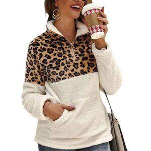 Leo Rosi Women's Leopard Fleece Pullover